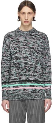 Loewe Black and Multicolor Melange Sweater