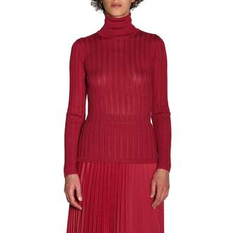 M Missoni Sweater Long-sleeved Turtleneck In Ribbed Fabric