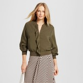 Who What Wear Women's Ruffle Bomber Jacket