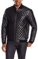 Levi's Men's Smooth Lamb Faux Leather Diamond Quilted Varsity Bomber