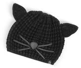 Karl Lagerfeld Black Choupette Knit Hat