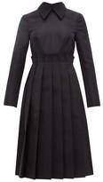 Duncan - Origami Pleated Silk-faille Dress - Womens - Black