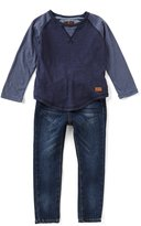 7 For All Mankind Little Boys 2T-7 Color Block Tee & Jeans Set