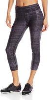 Calvin Klein Women's Washed Denim Print Crop Legging