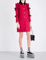 Gucci Ruffled wool coat