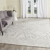 Safavieh Bella 4' X 6' Hand Tufted Wool Pile Rug in Silver and Ivory