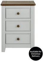Luxe Collection Newport Painted Ready Assembled 3 Drawer Bedside Chest