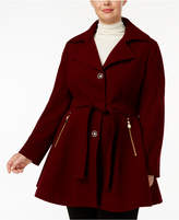 INC International Concepts Plus Size Skirted Walker Coat, Created for Macy's