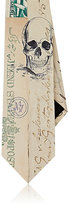 Alexander McQueen Men's Letters From India Silk Foulard Necktie