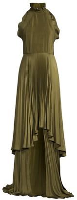 Flor Et. Al Tiffany Pleated Halter Gown