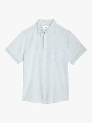 Onia Jack Linen Cotton Short Sleeve Shirt, Blue