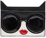 Alice + Olivia Stace Face Cat Card Case in Black.