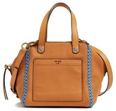 Tory Burch Mini Whipstitch Leather Satchel - Brown