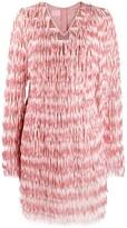 Giamba fringed sequin-embellished dress