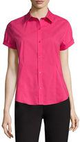 Liz Claiborne Short-Sleeve Button-Front Shirt