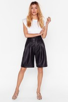 Womens We Be-long Together Faux Leather Shorts - black - 8