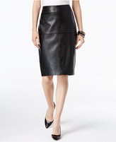 INC International Concepts Petite Faux-Leather Pencil Skirt, Only at Macy's