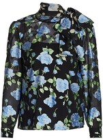 Thumbnail for your product : RED Valentino Semi-Sheer Floral Blouse