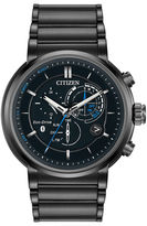 Citizen Eco-Drive Mens Black Ion Plated Proximity Watch Bz1005-51E