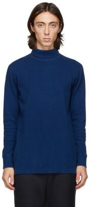 Blue Blue Japan Blue Hand-Dyed Rib Knit Turtleneck