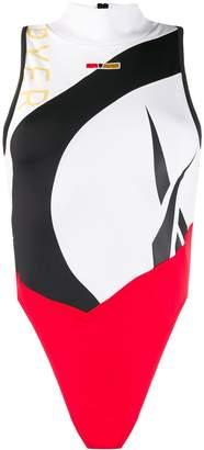 Reebok trim-colour swimsuit