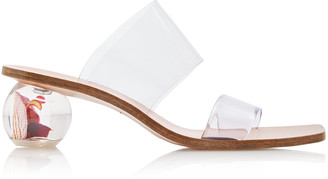 Cult Gaia Jila PVC and Leather Sandals