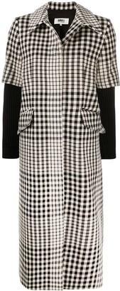 MM6 MAISON MARGIELA Layered-Sleeves Check Coat
