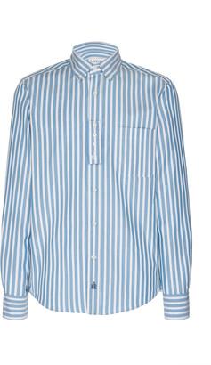Lanvin Striped Cotton-Poplin Shirt