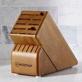Crate & Barrel Wüsthof ® 17-Slot Walnut Knife Block
