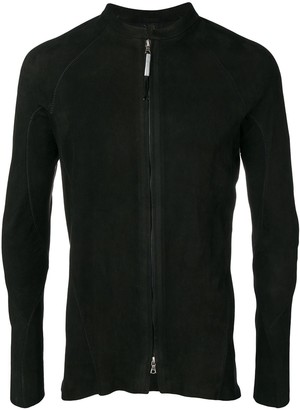 Isaac Sellam Experience Arpenteur metal-spine leather jacket