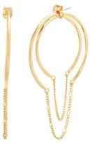 Steve Madden Women's Chain Hoop Earrings