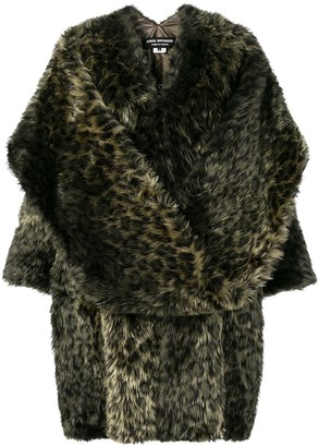 Junya Watanabe Leopard Faux Fur Coat