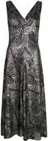 Paco Rabanne Leaf-Jacquard Midi Dress