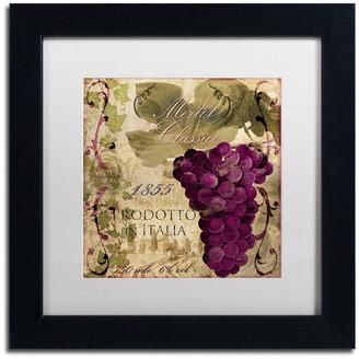 """Trademark Fine Art Color Bakery 'Vino Italiano I' Art, Black Frame, White Matte, 11""""x11"""""""