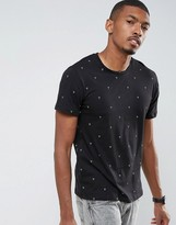 Pull&bear T-shirt With Dot Print In Black