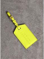 Burberry Embossed Leather Luggage Tag