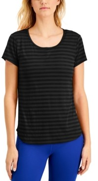 Ideology Shadow-Striped Cutout-Back T-Shirt, Created for Macy's