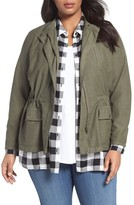 Sejour Plus Size Women's Relaxed Utility Jacket