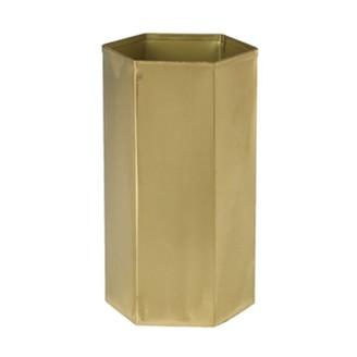 "Hofland Editor Vase Brass 8"""