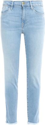 Frame Jardin Frayed Mid-rise Skinny Jeans