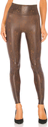 Spanx Faux Leather Snakeskin Legging