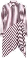 Marques Almeida Marques'almeida striped asymmetric shirt dress