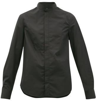 Wardrobe NYC Release 05 Band-collar Cotton-poplin Shirt - Black