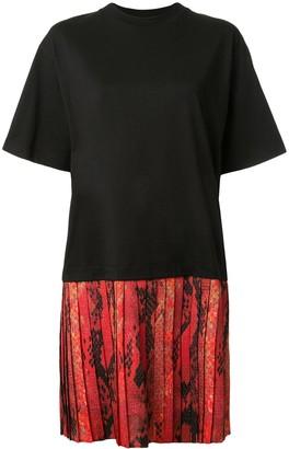 MSGM Snakeskin-Print Panelled Dress