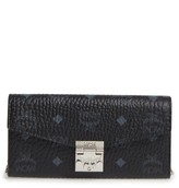 MCM Women's Large Patricia Visetos Canvas Wallet - Black