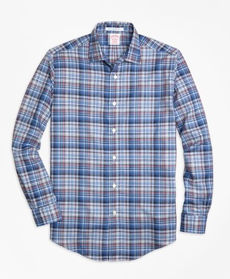 Brooks Brothers Madison Fit Plaid Melange Sport Shirt