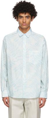 Jacquemus White and Blue La Chemise Simon Shirt