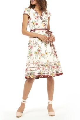 Gal Meets Glam Printed Waist Tie Dress