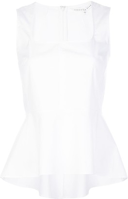 Veronica Beard Square-Neck Sleeveless Top