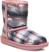UGG Classic II Rainbow Printed Sequin Boots, Toddler/Kids
